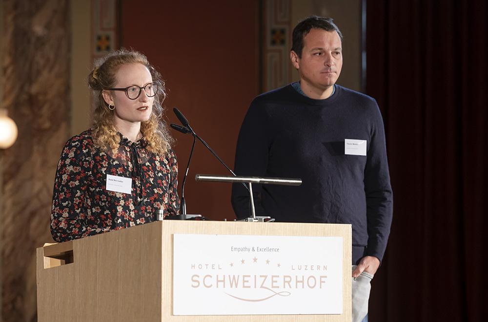 Rahel Dürrmüller und Claudio Meletta vertraten die Architektengruppe «Countdown 2030».