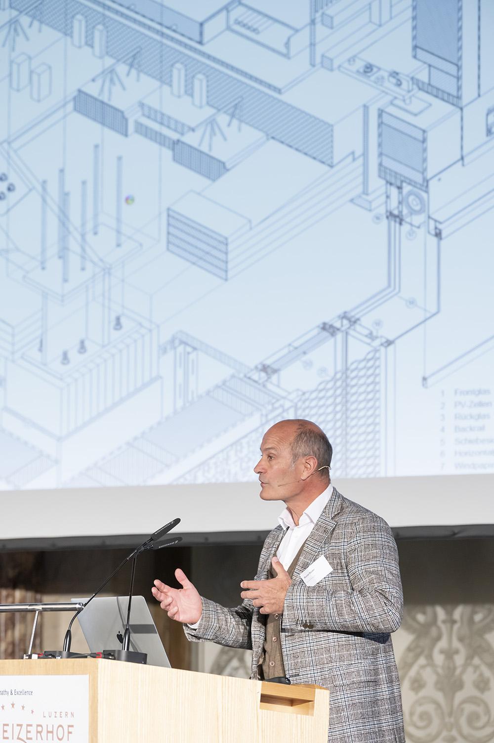 Daniel Studer von Bautechnologie und Konstruktion BUK der ETH Zürich.