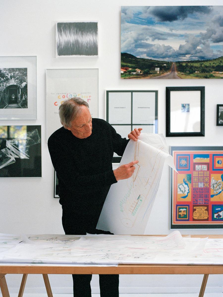 Georges Descombes in seinem Atelier