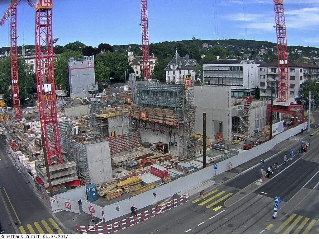 Kunsthaus Zürich, die Baustelle des Erweiterungsbaus am 4. Juli 2017.